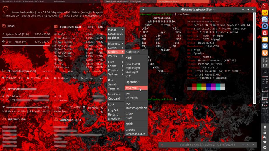 Desktop - Debian / Openbox / Tint2 / Conky